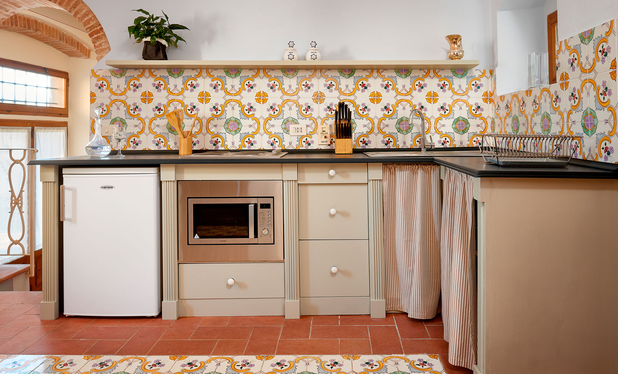 Cucina Appartamento Ruta Agriturismo torreghiotta Pistoia